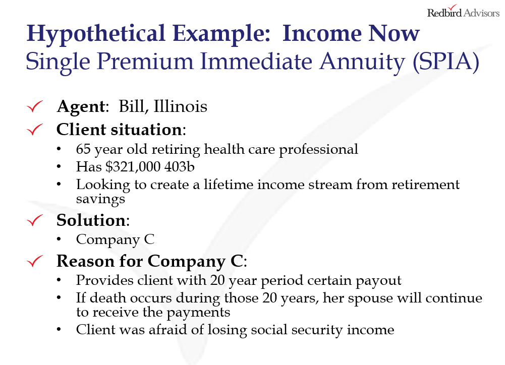 How to sell immediate annuities